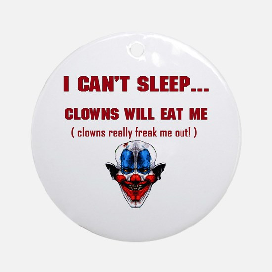 Evil Clowns Ornament (Round)