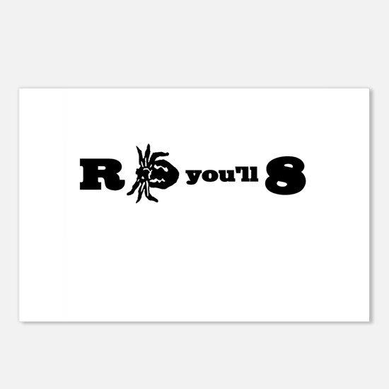R-Tick-You'll-8 Postcards (Package of 8)