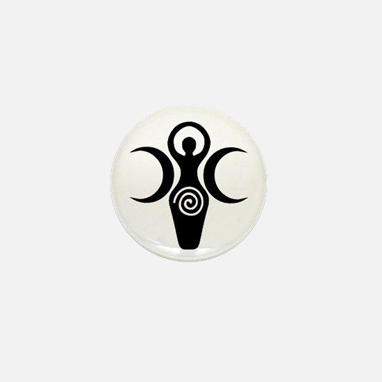 Goddess Crescent Moons Mini Button
