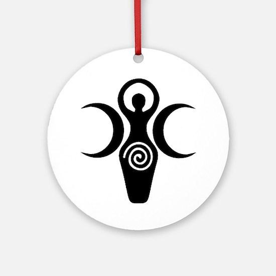 Goddess Crescent Moons Ornament (Round)