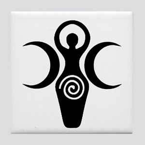 Goddess Crescent Moons Tile Coaster