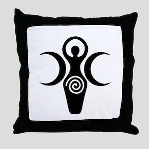 Goddess Crescent Moons Throw Pillow
