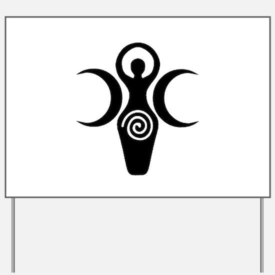 Goddess Crescent Moons Yard Sign