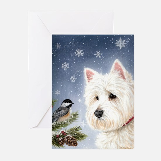 WESTIE WINTER WONDERS Greeting Cards (Pk of 10)