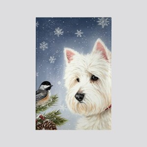 WESTIE WINTER WONDERS Rectangle Magnet