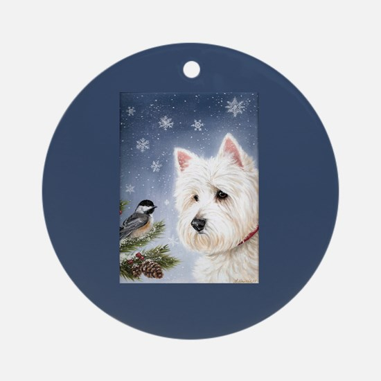 WESTIE WINTER WONDERS Ornament (Round)