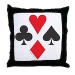 Card Symbols - Throw Pillow