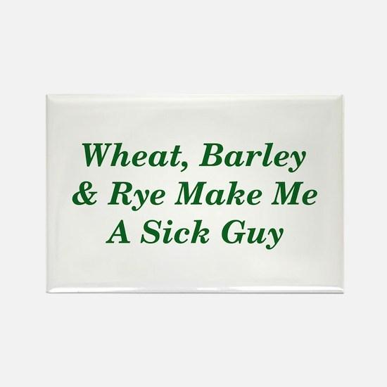 Wheat, Barley & Rye Celiac Rectangle Magnet