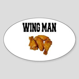 Wing Man Oval Sticker