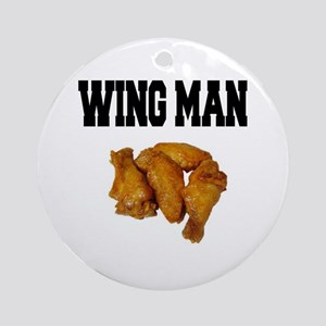 Wing Man Ornament (Round)