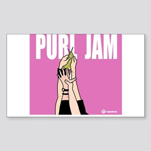 Purl Jam Rectangle Sticker