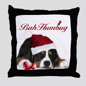 Bah Humbug Berner Throw Pillow