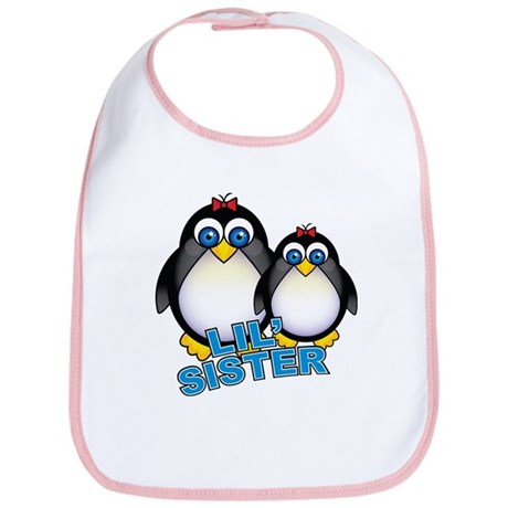 Lil' Sister Penguins Bib