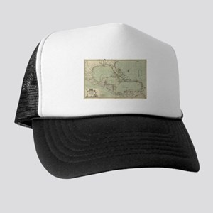 Vintage Map of The Caribbean (1774) Trucker Hat