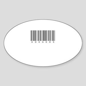 Dodgers Oval Sticker (10 pk)
