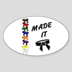 Made It 3 Oval Sticker