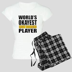 Worlds Okayest Skateboardin Women's Light Pajamas