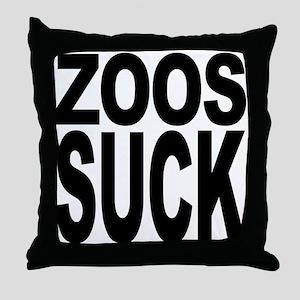 Zoos Suck Throw Pillow