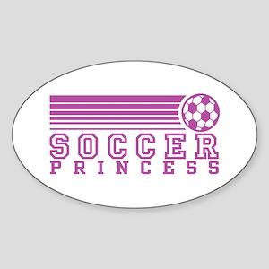 Soccer Princess Oval Sticker