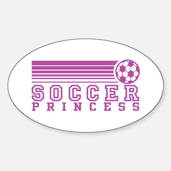 Soccer Princess Oval Decal