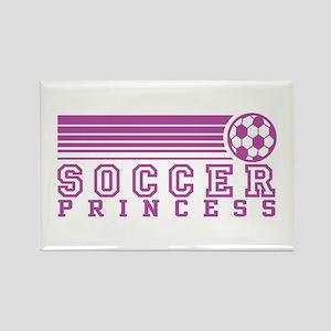 Soccer Princess Rectangle Magnet