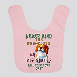 Never Mind for Girls Polyester Baby Bib