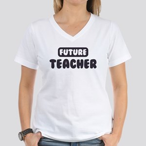 Future Teacher Women's V-Neck T-Shirt