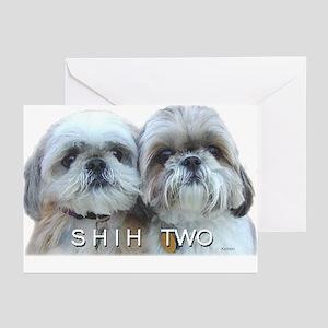 Shih Tzu - Shih Two Greeting Cards (Pk of 10)