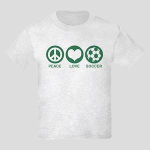 Peace Love Soccer Kids Light T-Shirt