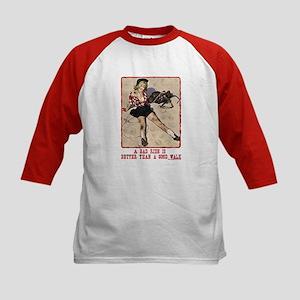 Cowgirl Bad Ride Kids Baseball Jersey