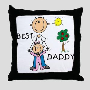 Best Daddy Throw Pillow