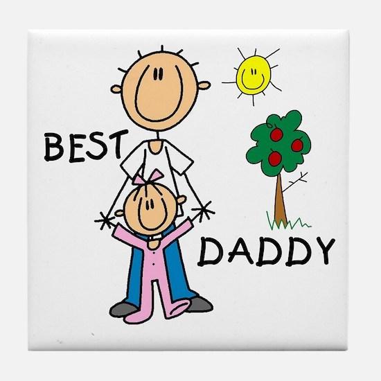 Best Daddy Tile Coaster