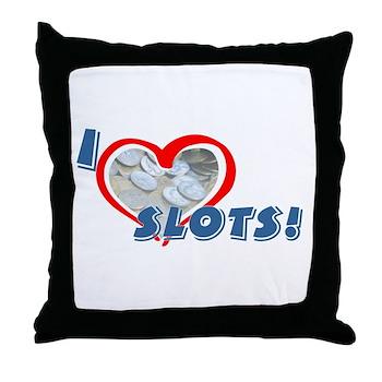 Slots Throw Pillow