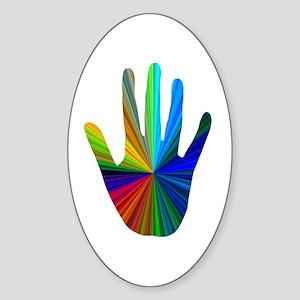 Healing Hand Sticker (Oval)