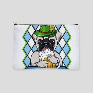 Oktoberfest Beer Drinking Pug Dog Pugto Makeup Bag