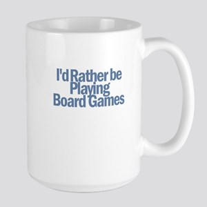 I'd Rather be Playing Board G Large Mug