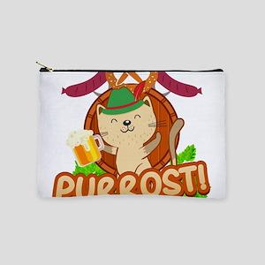 "Funny Oktoberfest Kitty Cat ""PURRO Makeup Bag"