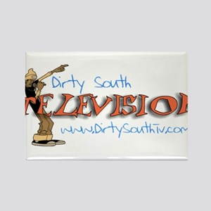 Dirty South Television Rectangle Magnet