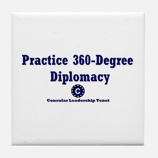 DP-Practice 360-Degree Diplomacy Tile Coaster
