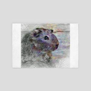 Artistic Animal Guinea Pig 4' x 6' Rug