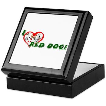 Red Dog Keepsake Box