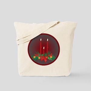 Burning Candles Christmas Tote Bag