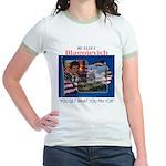 Re-Elect Blagojevich Jr. Ringer T-Shirt