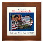 Re-Elect Blagojevich Framed Tile