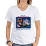 Re-Elect Blagojevich Women's V-Neck T-Shirt