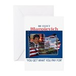 Re-Elect Blagojevich Greeting Cards (Pk of 20)