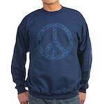 Blue Peace Sign Sweatshirt (dark)