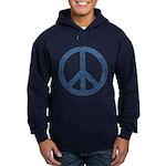 Blue Peace Sign Hoodie (dark)