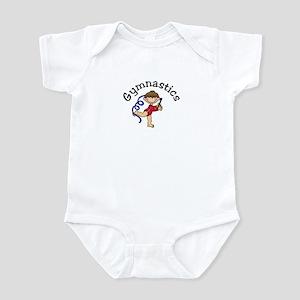 Brunette Gymnastics Girl Infant Bodysuit