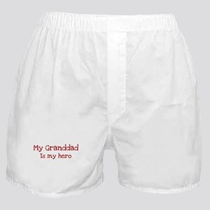 Granddad is my hero Boxer Shorts